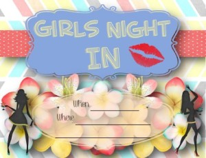 Girls Night INvitations